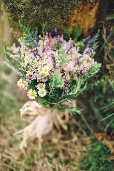 wildflower spring wedding bouquet / http://www.himisspuff.com/boho-rustic-wildflower-wedding-ideas/8/