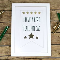First Edition Father's Day Foil Project Tutorial with Free Printable Father's Day Diy, Fathers Day, Free Printables, Frame, Projects, Gifts, Picture Frame, Log Projects, Blue Prints