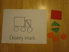 Toddler Approved!: Mom Project: Truck Shape Pattern Puzzles - a great selection - neat idea!!