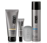 NEW! MKMen®: NEW! MKMen® Skin Care Regimen Bundle (Includes MKMen® Face Bar, MKMen® Advanced Facial Hydrator Sunscreen Broad Spectrum SPF 30 (Over-the-counter drug product), MKMen® Advanced Eye Cream and MKMen® Shave Foam)