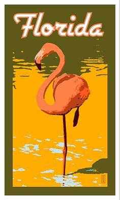 The Glam Pad: Fabulous Flamingo Wallpaper Vintage Florida, Old Florida, Florida Travel, Vintage Hawaii, Mexico Travel, Spain Travel, Flamingo Wallpaper, Flamingo Art, Pink Flamingos