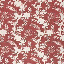Beijing Blossom Crimson by Lee Jofa Red Fabric, Floral Fabric, Drapery Fabric, Linen Fabric, Lee Jofa, Fabric Houses, Fabric Swatches, Beijing, Fabric Patterns