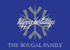 Holiday Snowflake Card Custom Made to Order  $10.99 Set of 12 with Envelopes