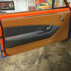 custom chevelle #BecauseSS door panels leather brown grey fiberglass interiors by shannon interior