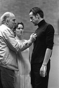 I like Ingmar Bergman and theater.Greatest mix:Hamlet and two genius(Grand-Master and gorgeous student @TheStormare