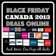 4fd8988c5d Black Friday Canada Deals on one page for the year 2013 Black Friday Deals  Canada