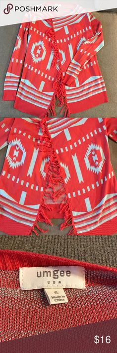 Tribal Sweater Tribal & bright Sweater - great condition! Umgee Sweaters
