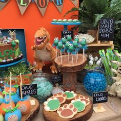 Fantastic treats at a Good Dinosaur birthday party! See more party ideas at CatchMyParty.com!