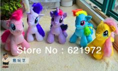 New Arrival! 5 Colors My Little Pony Plush Toys Doll 30CM Stuffed Animals Horse Dolls Gifts for Kids Baby Toy Free shipping