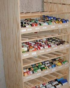 How to Build a Rotating Canned Food Shelf