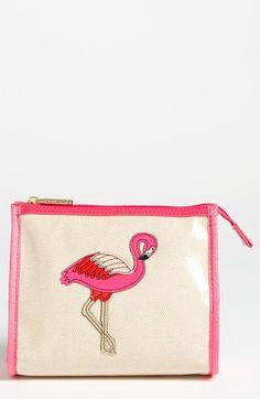 Tory Burch Flamingo - Taryn Cosmetics Case   Nordstrom