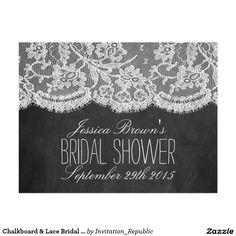 Chalkboard & Lace Bridal Shower Recipe Cards