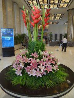 hotel lobby flower decorating - ค้นหาด้วย Google