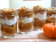 Pumpkin Yogurt Parfaits from Budget Bytes (Thanksgiving Breakfast? Yes please)
