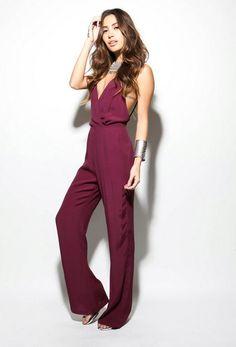 maroon jumpsuit  #UNIQUE_WOMENS_FASHION
