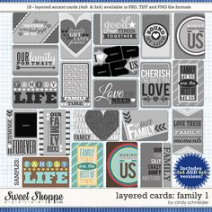 Journal cards templates