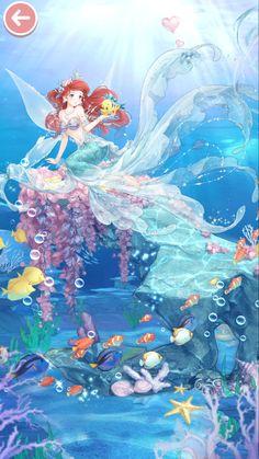 Disney Princess Art, Mermaid Wallpapers, Anime Mermaid, Anime Princess, Anime Art Fantasy, Disney Little Mermaids, Disney Princess Drawings, Disney Movie Art, Cute Disney Wallpaper