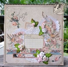This is the absolutely stunning June page by @Susan Lui for our Place in Time Calendar Tutorial Series! #graphic45 #tutorials