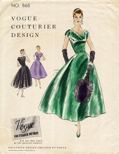 1950s Vogue Couturier Design Dress