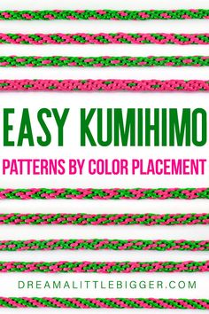 All you need are 8 cords in 2 colors to make these 9 fabulous Kumihimo patterns. Use this as a quick reference for 9 go-to Kumihimo cords! Diy Crafts For Gifts, Crafts To Make And Sell, Yarn Crafts, Sewing Crafts, Cool Diy Projects, Craft Projects, Different Patterns, Bracelet Patterns, Crafty