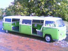VW BUS LIMO- WILL be my prom transportation.