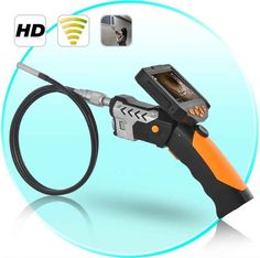 720P HD Wireless Inspection Camera with 3.5 Inch Detachable Monitor (DVR + CREE