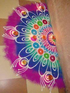 Diwali Rangoli Designs with Colors