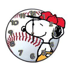Peanuts Snoopy Baseball Wall Clock