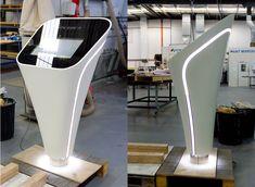 Light design for kiosk or desk Screen Design, Pos Design, Signage Design, Display Design, Booth Design, Design Agency, Digital Kiosk, Digital Signage, Exhibition Stall