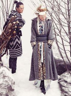Vogue Germany December 2012, Kimono Mode & Classic, Hiromi Asai