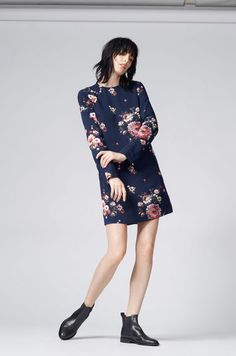 add7aa09b97 Warehouse, PAINTED FLORAL SHIFT DRESS Blue Pattern 1 Dress Clothes For Women,  Warehouse,