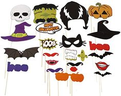 Naice Photo Booth Props 24pcs DIY Kit for Halloween Party...