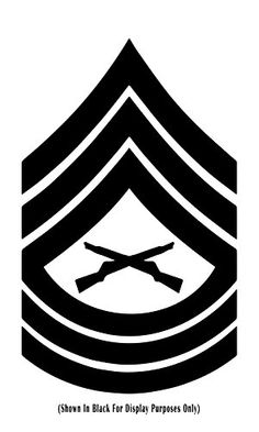 Master Sergeant Msgt United States Marine Corps (USMC) Chevron Rank Insignia Indoor/Outdoor Vinyl Decal, MultiPurpose - For Your Auto, Wall, Window and More Purchase this product along with all of our other spectacular decals through one of the following links:   https://www.etsy.com/shop/MiaBellaDesignsWI  http://www.amazon.com/s?marketplaceID=ATVPDKIKX0DER&me=A2MSEOIVL689S1&merchant=A2MSEOIVL689S1&redirect=true