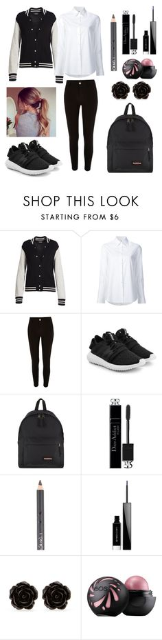 """""""Casual School X"""" by lov3lyfashion ❤ liked on Polyvore featuring Marc Jacobs, Misha Nonoo, River Island, adidas Originals, Eastpak, Christian Dior, MAKE UP STORE, Givenchy and Erica Lyons"""