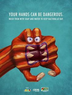 Hand Monsters is one of the most creative ad campaign and its all about hand hygiene.This scary hand monsters are created to show us how dangerous can the bacteria be, and how essential washing your hands with anti-bacterial soap is. Gloriousmind.com