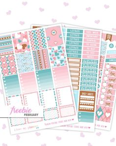 FREE Valentine's Day Printable Planner Stickers for the Erin Condren Life Planner. Visit the shop to get the download link for free :)