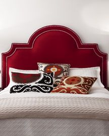 "-38M6 Massoud ""Sonia"" Velvet Headboard"
