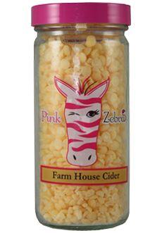 Farm House Cider $8 http://zebracandlesprinkles.com #pink #zebra #consultant #sprinkles #farm #house #cider #candles #scents #wax