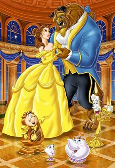 Walt Disney Beauty and the Beast. And I thought sleeping beauty was always my favorite, I forgot about this one. Disney Pixar, Fera Disney, Walt Disney, Disney Films, Disney Animation, Disney Cartoons, Disney Magic, Disney Characters, Disney Couples