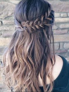French Braid Half Do