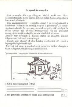 Szövegértés gyakorlásához feladatlapok, 2. osztály - kossuthsuli.lapunk.hu Worksheets, Album, Teaching, Memes, Archive, Diy, Dyslexia, Do It Yourself, Bricolage