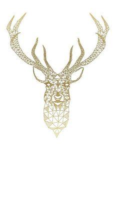 Geometric || Deer || Antlers