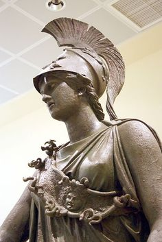 """Detail from the statue of the """"Piraeus Athena"""" in the Archaeological Museum of Piraeus (Athens). The work has been given to either Kephisodotos or Euphranor (4th century B.C.), or deemed to be a Hellenistic-era creation in classicizing style. Picture by Giovanni Dall'Orto"""