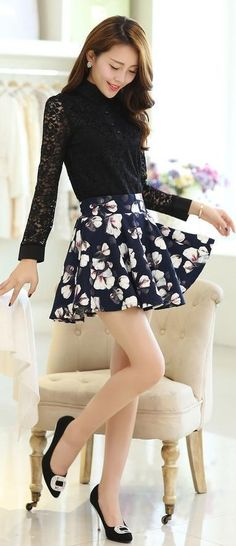 Long Sleeve Lace Blouse, Mandarin Collar, YRB, navy blue lace, korean lace top, asian lace blouse, lace blouses from asia, korean lace blouses, lace shirt long, sleeve, mandarin, collar, yrb0348, women new, arrivals
