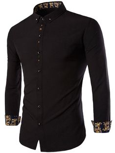 Long Sleeves Embroidery Button-Down Shirt #shoes, #jewelry, #women, #men, #hats, #watches