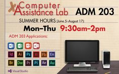 Need help with computers? Attend a Computer Assistance Lab during the summer.  June 5 - August 17, 9:30am-2pm in ADM 203 at #LSCKingwood