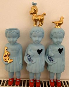 Porcelain Clonette dolls by Lammers en Lammers. MaisonNL Concept Store, Amsterdam. www.maisonnl.com
