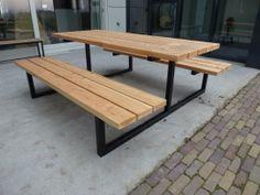 Picknicktafel model 1 metalen stalen onderstel frame | Hout & Staal | FEMOR
