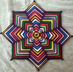 mandalas de lana paso a paso super coloridos