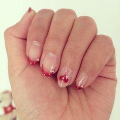 マギーのマネしてみた #nail #gelnail #maggy #frenchnail #ネイル #ジェルネイル #heart #赤フレンチ @maggymoon